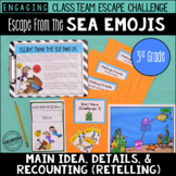 Main Idea Details Escape Room Review / Test Prep 3rd Grade