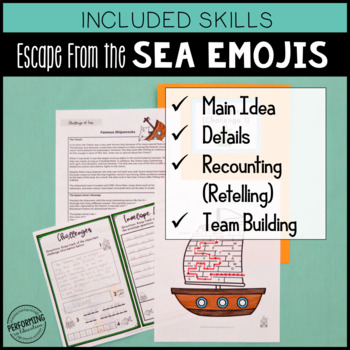 Main Idea Test Prep 3rd Grade Escape Breakout Game