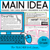 3rd Grade Main Idea Print and Digital Distance Learning