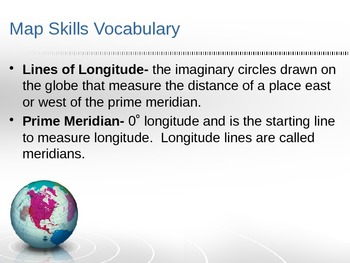 3rd Grade Map Skills Vocabulary ppt