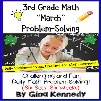 3rd Grade March Problem Solving: Daily Multi-Step (Two-Step) Math Problems