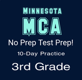 3rd Grade Math 10 Days of Practice for Minnesota MCA EOG Test; no prep!