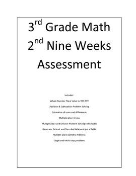 3rd Grade Math 2nd Nine Weeks Assessment