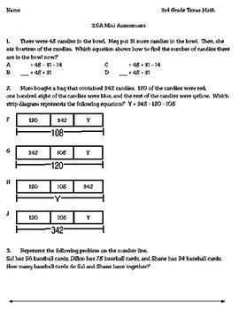 3rd Grade Math: 3.5A Mini Assessment