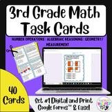 3rd Grade TX STAAR Math | 40 Card Collection | Task Cards | w/ Digital Access