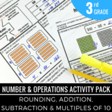 Rounding Numbers   Addition   Subtraction - 3rd Grade Math Activity Pack
