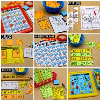 3rd Grade Math: Addition and Subtraction up to 1,000