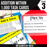 Addition within 1000 Task Cards 3rd Grade Math Centers