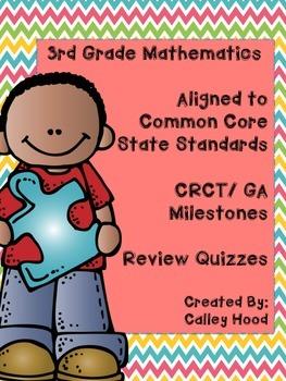 3rd Grade Math Aligned Common Core Standards CRCT/GA Miles
