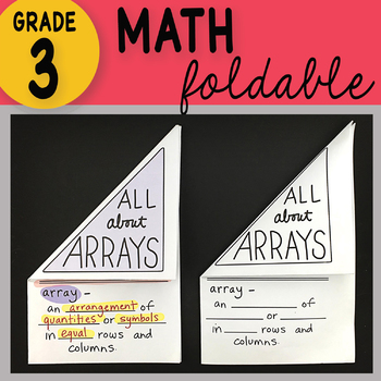 Doodle Notes - 3rd Grade Math All About Arrays Foldable