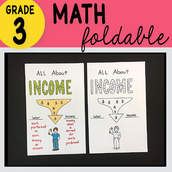 3rd Grade Math All About Income Foldable by Math Doodles