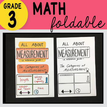 Doodle Notes - 3rd Grade Math All About Measurements Foldable
