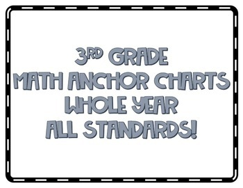 3rd Grade Math Anchor Charts *ALL STANDARDS*