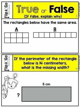 Area and Perimeter Task Cards 3rd Grade Math Centers