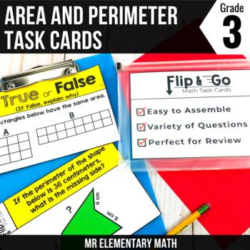 Area & Perimeter - 3rd Grade Math Flip & Go Cards