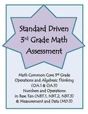 3rd Grade Math Assessement - OA.1, OA.3, NBT.1, NBT.2, NBT.3 & MD.3