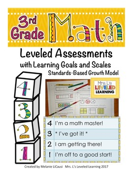 3rd Grade Math Assessment (3.NBT.1-3) with Marzano Scales - FREE!