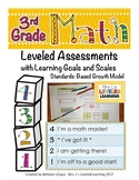 3rd Grade Math Assessment (3.NBT.1-3) with Learning Goals and Marzano Scales