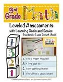3rd Grade Math Assessment (3.NBT.1-3) with Learning Goals