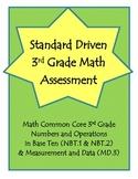 3rd Grade Math Assessment - 3.NBT.1 & 3.NBT.2 / 3.NBT.A.1 & 3.NBT.A.2