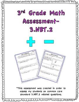 3rd Grade Math Assessment-3.NBT.2