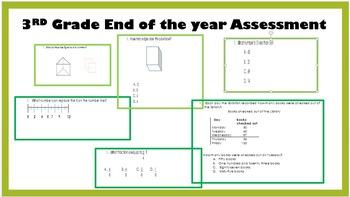 3rd Grade Math Assessment-- End of the Year Assessment