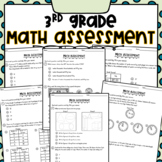 3rd Grade Math Assessment Printables and BOOM Cards