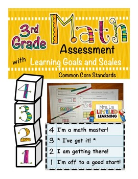 3rd Grade Math Assessment with Learning Goals & Scales - Aligned to Common Core