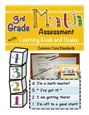 3rd Grade Math Assessment with Learning Goals & Scales - A