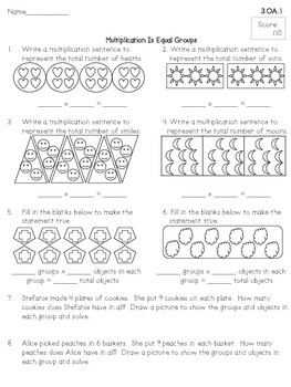 3rd Grade Math Assessments For Each & Every Common Core Math Standard