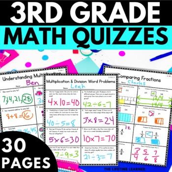 3rd Grade Math Assessments - Third Grade Math Common Core Tests