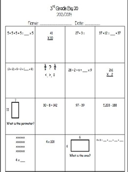 3rd Grade Math Assessments and Monitoring