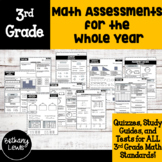 3rd Grade Math Assessments for the Whole Year
