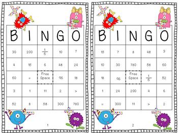3rd Grade Math Bingo (Common Core State Standards Aligned)