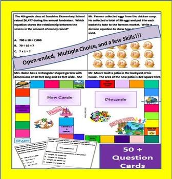 3rd and 4th Grade Math Board Game- Common Core Aligned