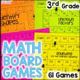 3rd Grade Math Board Games YEAR LONG Bundle!