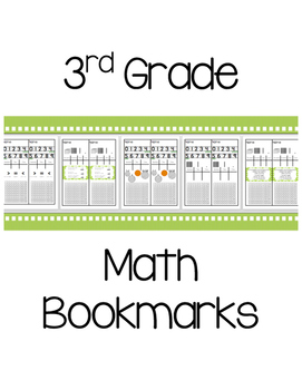 3rd Grade Math Bookmarks