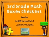 3rd Grade Math Boxes Checklist New Everyday Math 4