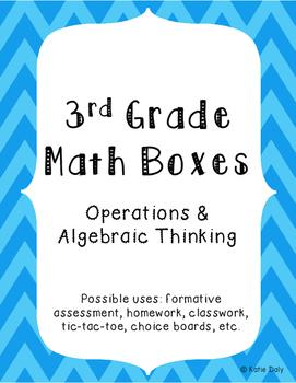 3rd Grade Math Boxes - Operations and Algebraic Thinking