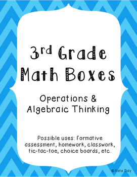 3rd Grade Math Boxes - Operations and Algebraic Thinking