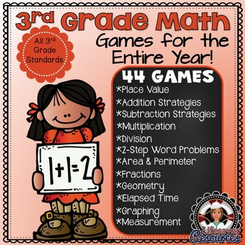 3rd Grade Math Games - Place Value, Rounding, Addition, Su
