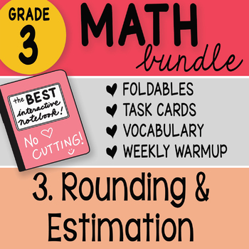 3rd Grade Math Bundle 3 Rounding and Estimation by Math Doodles