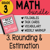 Doodle Notes - 3rd Grade Math Doodles Bundle 3. Rounding and Estimation