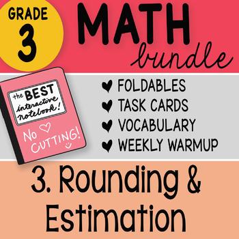 Doodle Notes - 3rd Grade Math Doodles Bundle 3. Rounding and Estimation