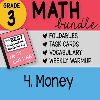 3rd Grade Math Doodles Bundle 4. Money