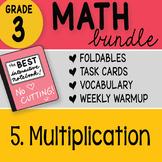 Doodle Notes - 3rd Grade Math Doodles Bundle 5. Multiplication