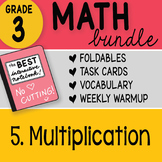 Doodle Notes - 3rd Grade Math Doodles Bundle 5. Multiplication