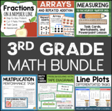 3rd Grade Math Bundle Centers, Games, Activities for the W