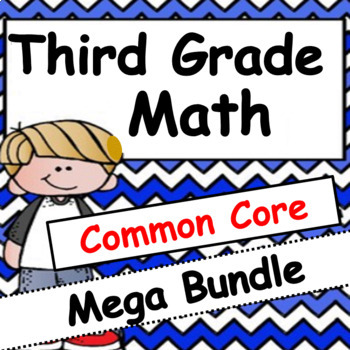 3rd Grade Math Bundle: Common Core Practice, Projects, and