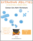 3rd Grade Math Bundle- Fractions,Geometry,Algebra,M&D,Base 10- Speech & Language